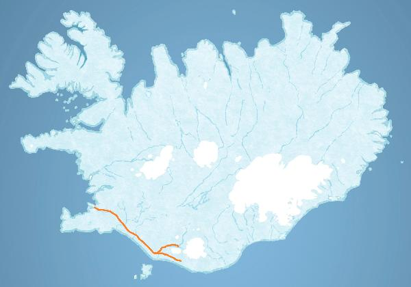 Map for Eyjafjallajokull Exclusive tour