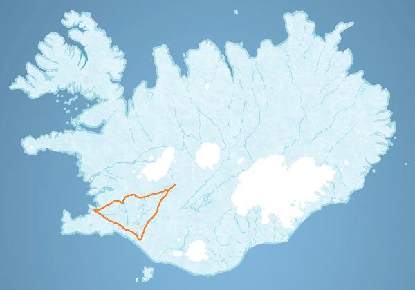 Map for Golden Circle & Langjökull Glacier tour
